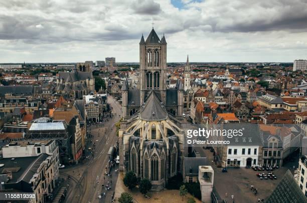 saint nicholas' church in ghent - peter lourenco bildbanksfoton och bilder