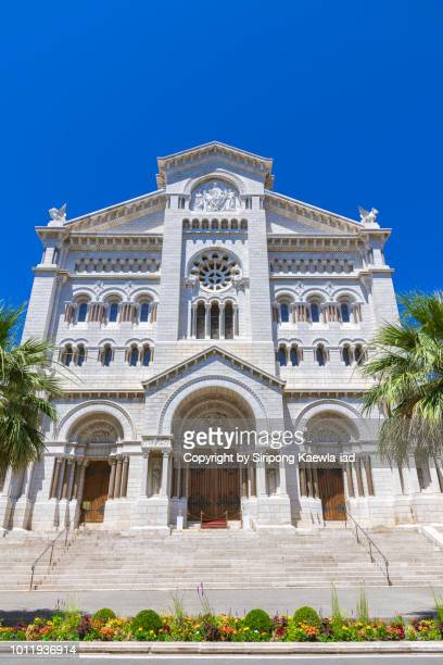 saint nicolas cathedral in monaco. - monte carlo stock pictures, royalty-free photos & images