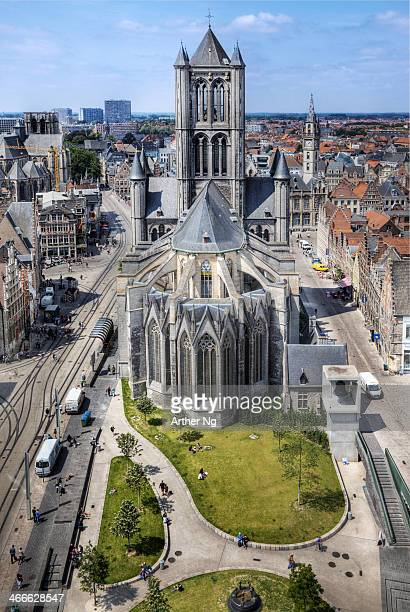 CONTENT] Saint Nicolas Church from the Belfry of Ghent Belgium