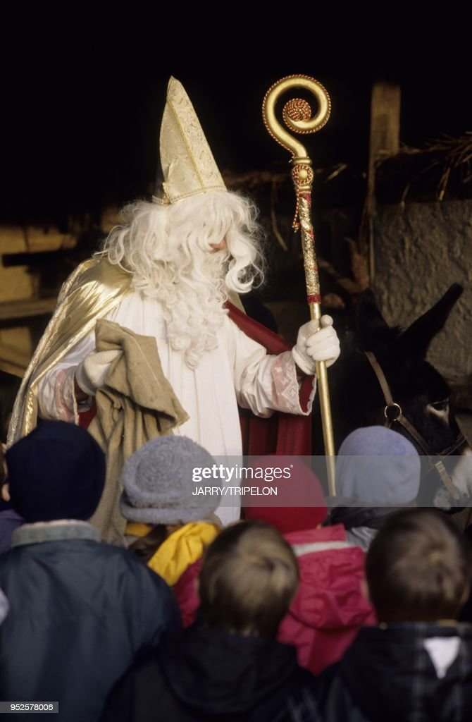 Saint Nicolas Et Son Ane Ecomusee D Alsace Ungersheim Departement News Photo Getty Images
