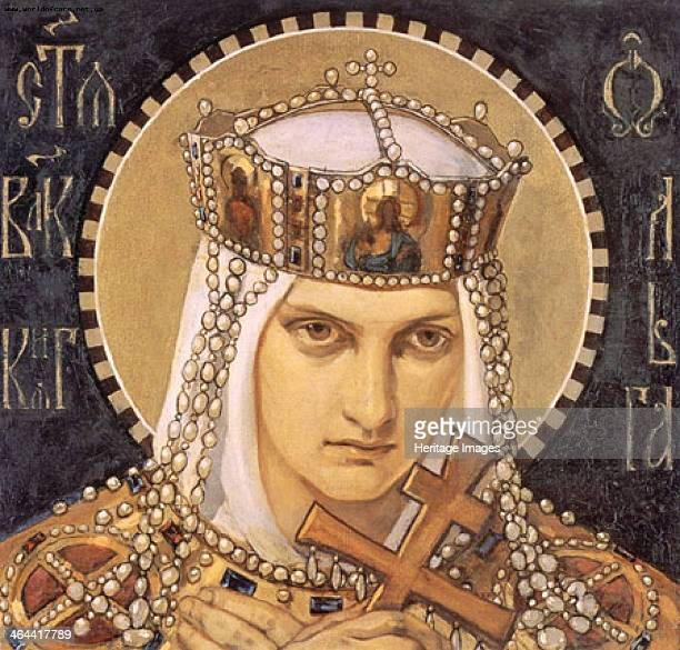Saint Olga, Princess of Kiev, Second Half of the 19th cen.. Found in the collection of the State Russian Museum, St. Petersburg.