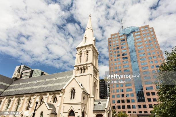 saint patrick cathedral in auckland, new zealand largest city - didier marti stock photos and pictures