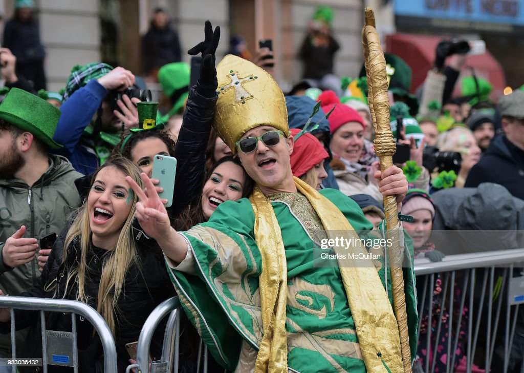St Patrick's Day Parade Takes Place In Dublin