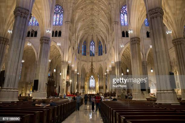 Saint Patrick's Cathedral in downtown of Manhattan in New York United States on October 11 2017
