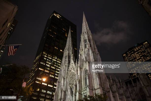 Saint Patrick's Cathedral in downtown of Manhattan in New York United States on October 12 2017
