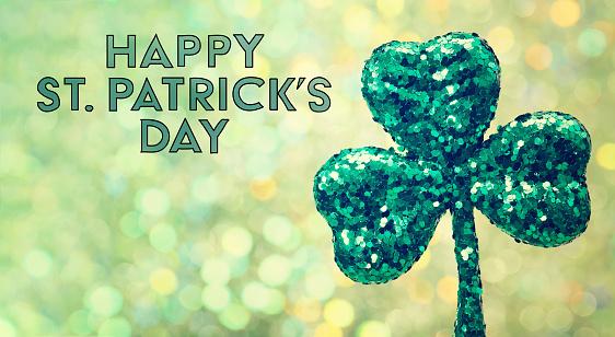Saint Patricks Day green clover ornament 1127208510