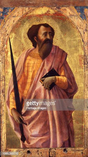 Saint Paul From the Altarpiece for the Santa Maria del Carmine in Pisa 1426 Found in the Collection of Museo di San Matteo Pisa