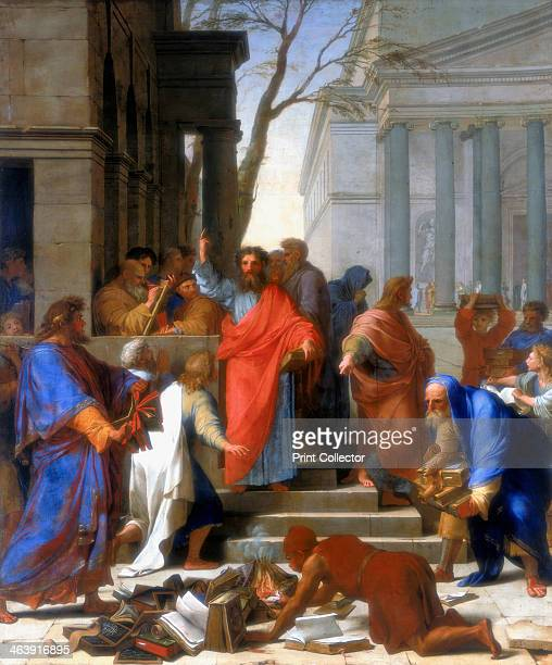 'Saint Paul Preaching at Ephesus' 1649 During Saint Paul's mission to Ephesus he succeeded in converting many of the city's inhabitants to...