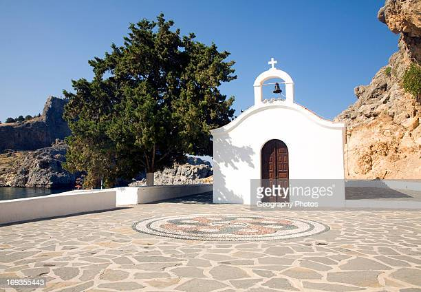 Saint Paul's chapel Lindos Rhodes Greece