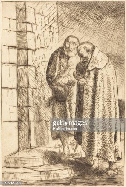 Saint Peter and Saint Paul in the Door of M. Richard (St. Pierre et St. Paul a la porte de M. Richard. Artist Alphonse Legros.