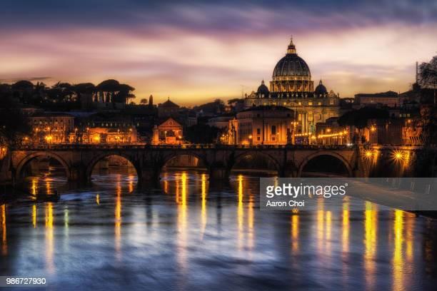 Saint Peters Basilica Sunset
