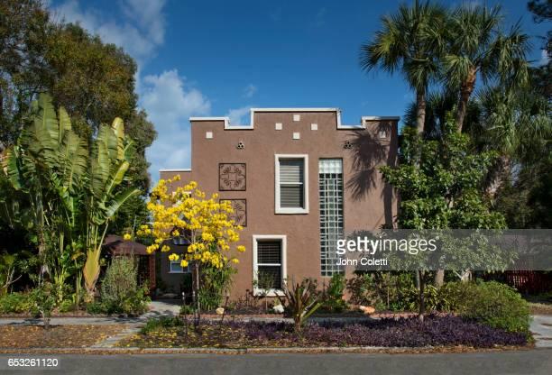 saint petersburg, florida, spanish colonial revival style house - リバイバル ストックフォトと画像