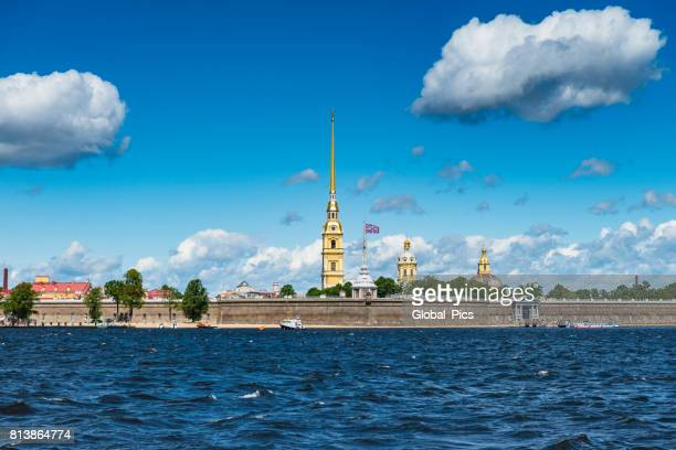 saint petersburg - russia - neva river stock photos and pictures