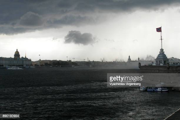 saint petersburg under heavy dark clouds - argenberg stock pictures, royalty-free photos & images
