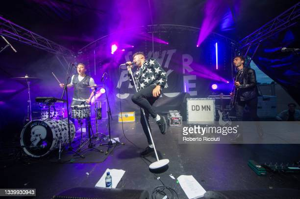 Saint Phnx perform on the River Stage on the third day of TRNSMT Festival 2021 on September 12, 2021 in Glasgow, Scotland.