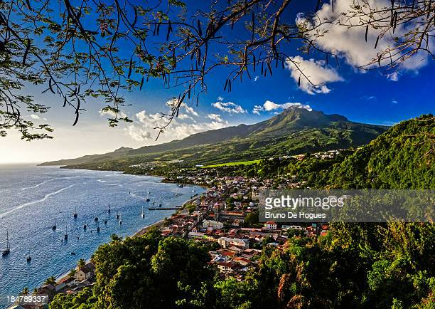 saint pierre bay, martinique - martinique stock photos and pictures