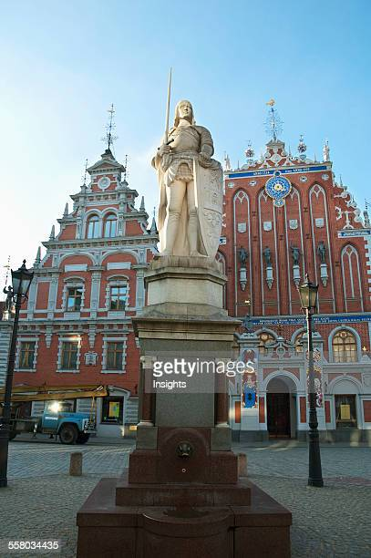 Saint Roland Statue House Of The Blackheads Riga Latvia
