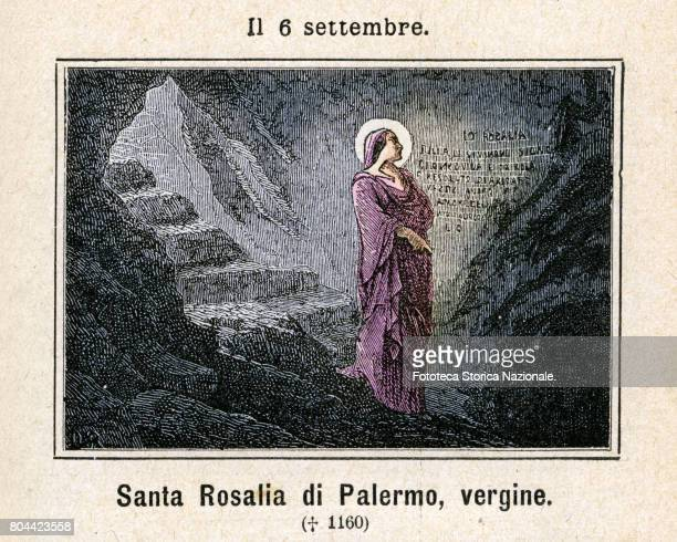 Saint Rosalia , also called La Santuzza or 'The Little Saint', and in local dialect as 'Rusalia', is the patron saint of Palermo in Italy. Colored...