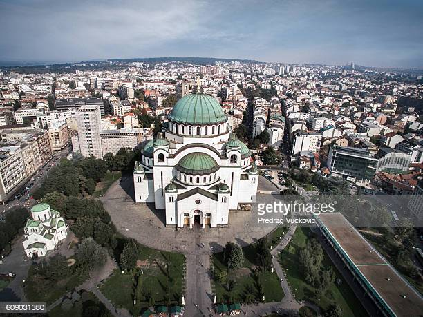 saint sava temple - serbia stock pictures, royalty-free photos & images