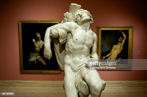 'Saint Sebastian' by Lorenzo Bernini is displayed at 'Lagrimas of Eros' exhibition at Thyssen Museum on December 3 2009 in Madrid Spain