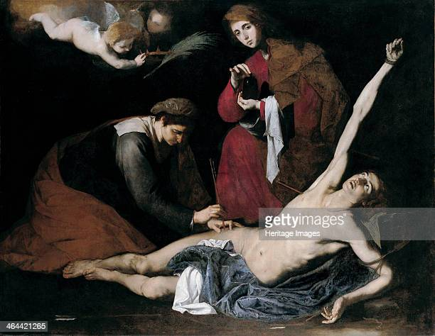 Saint Sebastian Tended by the Holy Women, c. 1621. Found in the collection of the Museo de Bellas Artes de Bilbao.