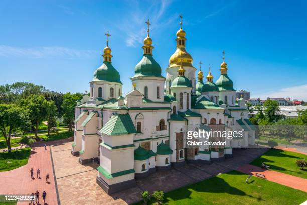 saint sophia's cathedral in kiev - ukraine stock pictures, royalty-free photos & images
