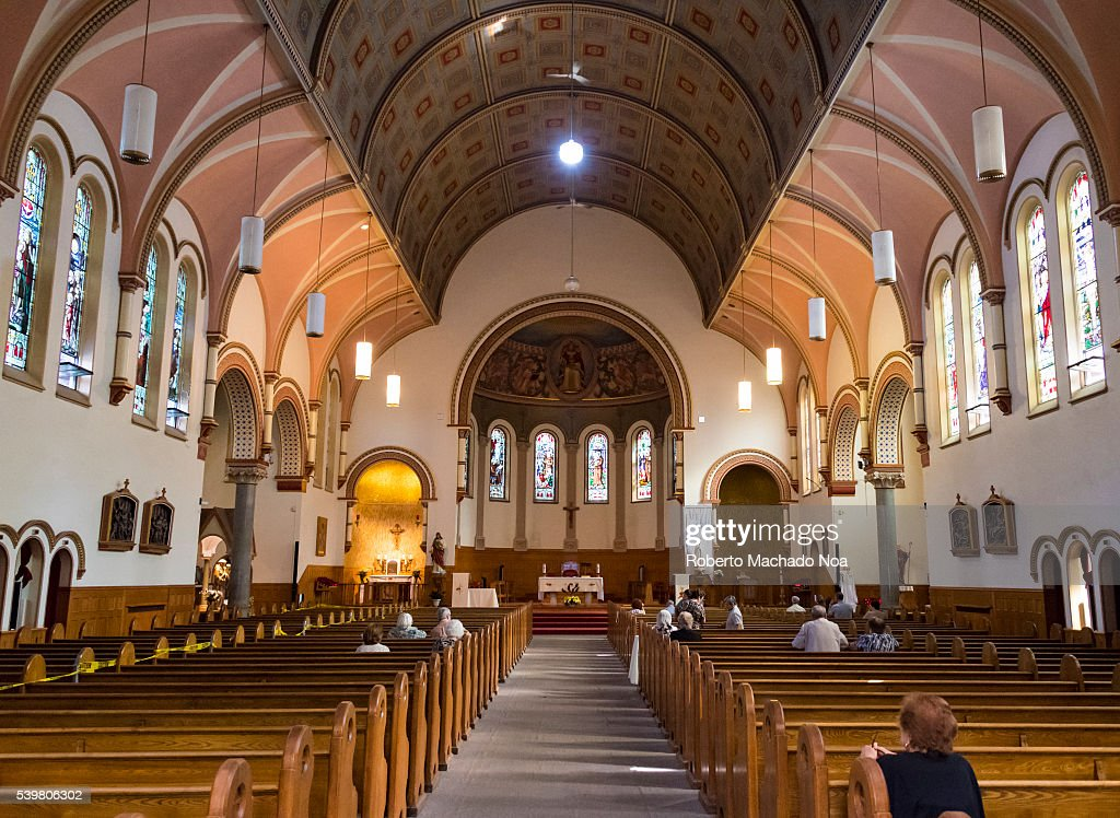 Saint St Anthonys Catholic Church Gothic Revival Interior Details The Is Located In