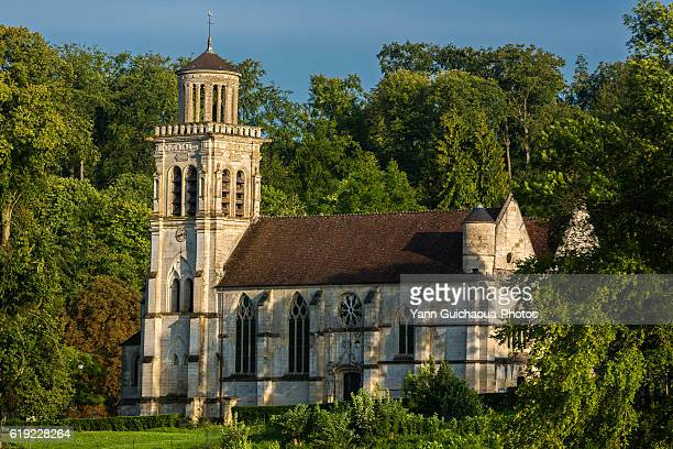 Saint Sulpice church at Pierrefonds, forest of Compiegne, Oise,Picardy,France