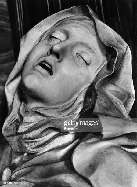 Saint Teresa in ecstacy Detail from Bernini's famed sculpture group in Church os St Maria Vittoria BPA2# 1665