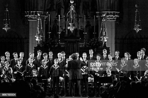 Saint Thomas Boys Choir of Leipzig with Leipzig Baroque Orchestra led by Georg Christoph Biller performing the music of Bach and Vivaldi at the...