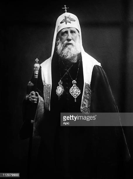 Saint Tikhon of Moscow 11th Patriarch of Moscow and All Russia of the Russian Orthodox Church in 19171925 c 1920