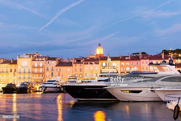 saint tropez harbour, france - saint tropez fotografías e imágenes de stock