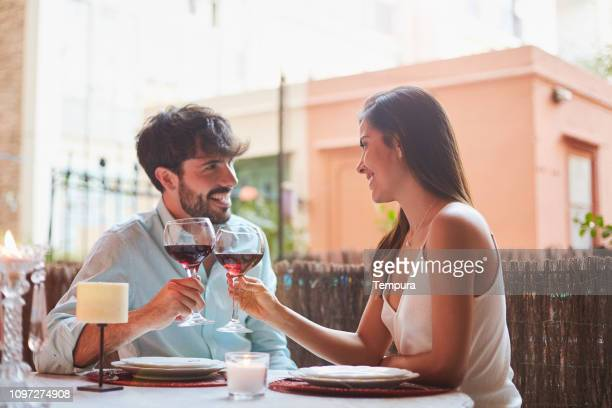 saint valentine day - valentines day dinner stock pictures, royalty-free photos & images