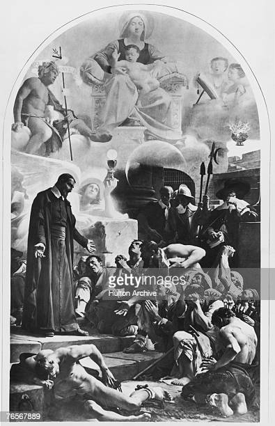 Saint Vincent de Paul amongst the galley slaves circa 1607 He had been captured by Turkish pirates but managed to convert his owner to Christianity...