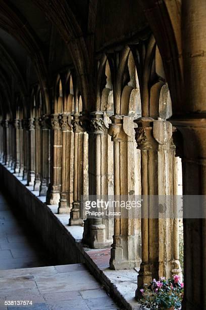 saint vincent's cathedral cloister, chalon-sur-saone - シャロンシュルソーヌ ストックフォトと画像