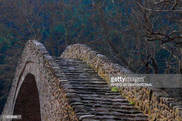 saint vissarion or porta's  stone bridge  at pyli trikala - {{asset.href}} stock-fotos und bilder