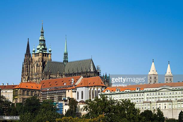 saint vitus cathedral in prague - hradcany castle stock pictures, royalty-free photos & images