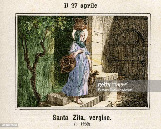 Saint Zita Virgin devout Christian of humble origins he went to serve in the twelve Fatinelli family of Lucca where he was always estimated for the...