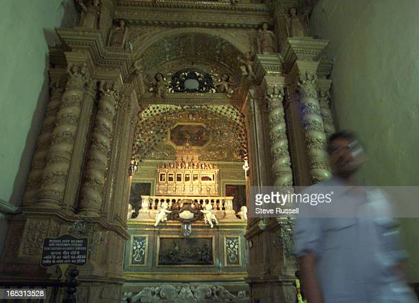 The body of St. Francis Xavier lies in mausoleum inside the Basilica of Bom Jesus in Old Goa, India, Febuary 16, 2001. The body lies high up in a...