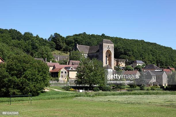 saint-amand-de-coly, dordogne, france - aquitaine stock photos and pictures