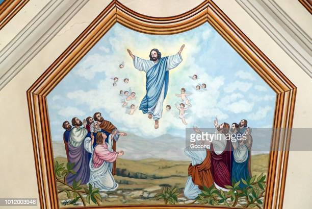 SaintAndre church The ascension of Jesus Wall painting