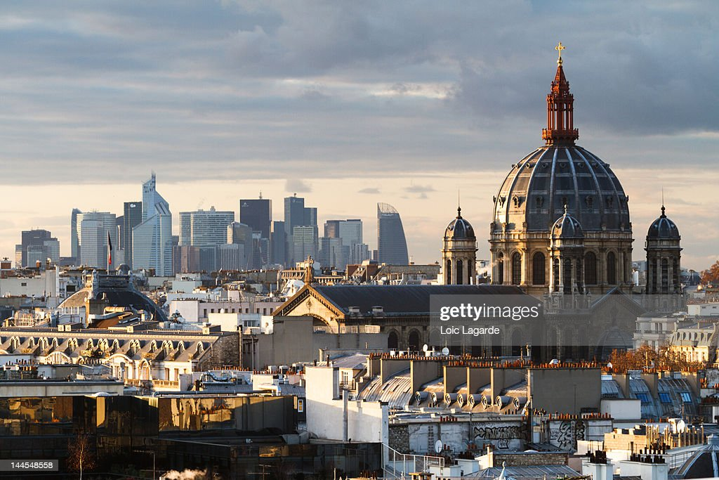 Saint-Augustin church dome : Bildbanksbilder