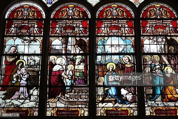 SaintAyoul church Stained glass window Life of Virgin Mary