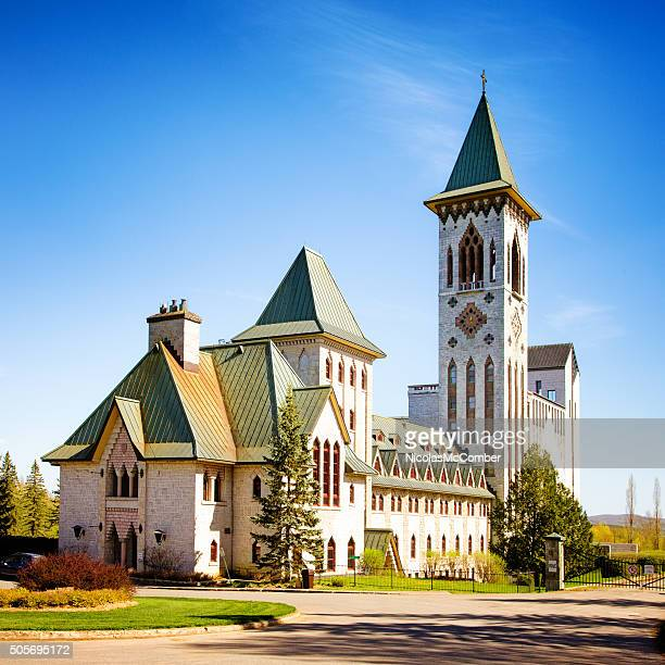 saint-benoit du lac abbey - eastern townships stock pictures, royalty-free photos & images