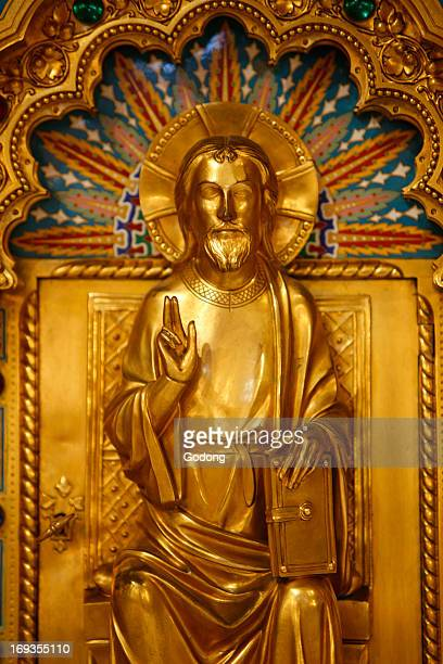 SaintCorentin cathedral Quimper Christ risen on the main altar