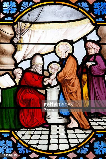 Saint-Corentin cathedral, Quimper Stained glass, Jesus's circumcision