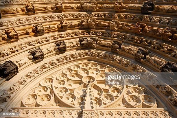 SaintCorentin cathedral Quimper Western gate tympanum