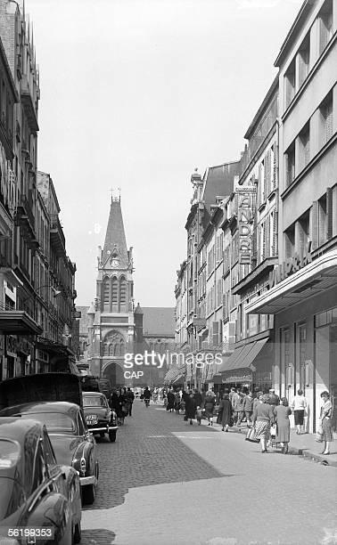 SaintDenis The street of the Republic and the SaintDenisdel'Estree church Years 1950