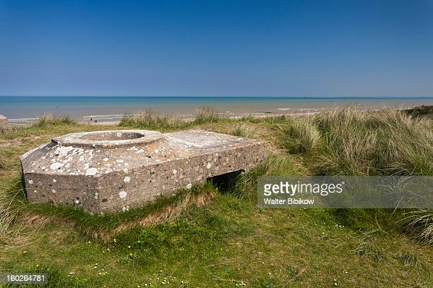 sainte marie du mont, normandy, d-day beaches - utah beach stock photos and pictures