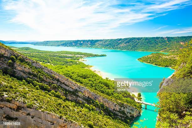 lac de sainte-croix, france - gorges du verdon photos et images de collection